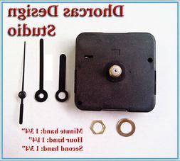 """Quartz Clock movement kit 1/4"""" threaded quiet motor & 1 3/4"""