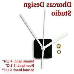 """Quartz Clock Movement kit, 1/4"""" threaded quiet motor and wh"""