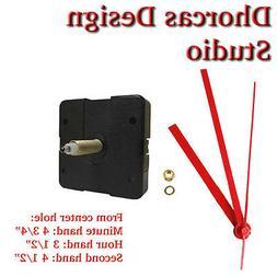 "Quartz Clock Movement 3/4"" threaded LONG SHAFT quiet motor"