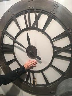 Uttermost 06085 Ronan Wall Clock, New, Free Shipping