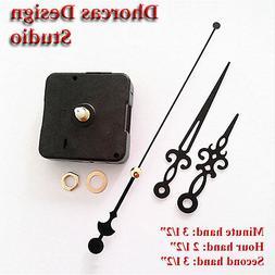 """Quartz Clock Movement kit, 1/4"""" threaded quiet motor and 3."""