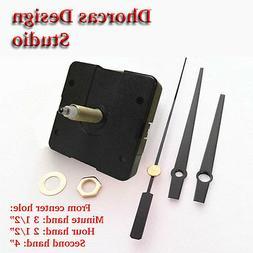 "Quartz Clock Movement 3/4"" threaded LONG SHAFT, quiet motor"