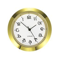Mudder 1-7/16 Inch  Clock Insert Fit Diameter 1-3/8 Inch  Ho