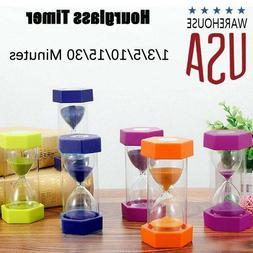 1-60min Hourglass Sand Timer Wooden Hour Glass Sand Clock Ho
