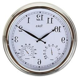 Lily's Home 3-In-1 Hanging Wall Clock with Thermometer and H