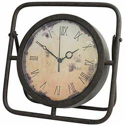 10 Desk & Shelf Clocks Inch Decorative Rustic Metal Table To