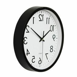 "10"" Digital Quartz Wall Clock Silent Round Non-ticking Class"