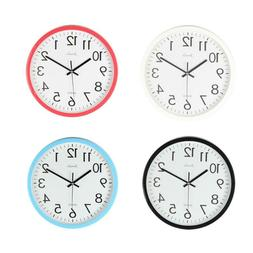 10 Inch Silent Wall Clock for Bedroom Living Room Simple Gla