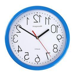 10 Inch Wall Clock,Silent Non-Ticking Quartz Battery Operate