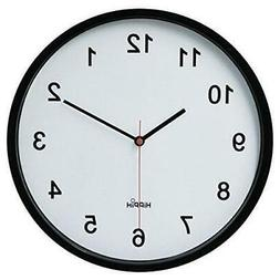 "HIPPIH 10"" Silent Quartz Digital Wall Clock with Plastic sur"