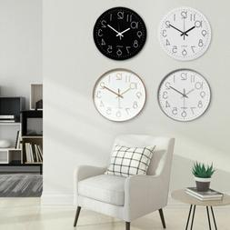 10inch Round Modern Quartz Silent Sweep Movement Wall Clock