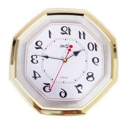 "11.6"" Premium Gold Colored Quality Quartz Battery Operated O"