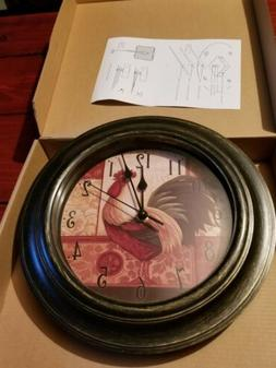 11 Inch Country Rooster Wall Clock