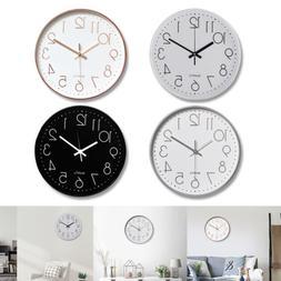 """12"""" 3D Modern Outdoor Wall Clock Silent Non-ticking Digital"""