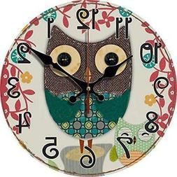 "Grazing 12"" Arabic Numerals Cute Cartoon Single Owl Design C"