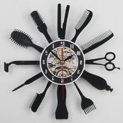 "12"" Creative Hairdresser Modern Wall Clocks 3D Wall Art Deco"