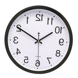 """12"""" Dia. Quartz Wall Clock Analog Clock for Home Living Room"""