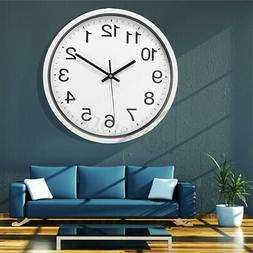 12''  Glow Dark Wall Clock Silent Quartz  Wall Classic Night