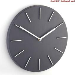 Bloom Flower 12 Inch Modern Decorative Wall Clock Silent for