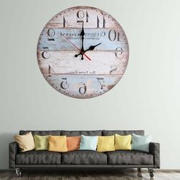 12'' Inch Retro Wall Clock Vintage Decor Silent Non Ticking