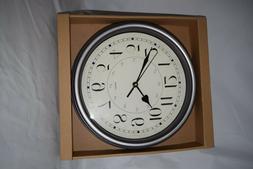 12 Inch Round Wall Clock Silent Non-Ticking Quartz Easy to R