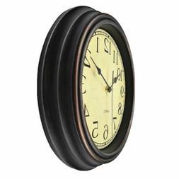 Foxtop 12 inch Silent Non-Ticking Round Classic Clock Retro