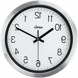 HIPPIH 12 Inch Silent Wall Clock, Non-Ticking Indoor 12 INCH