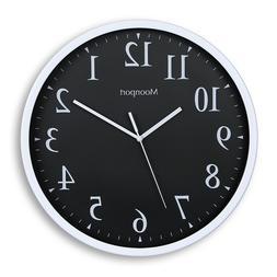 12 Inch Wall Clock,Silent Non-Ticking Quartz Battery Operate