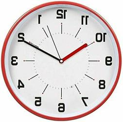 HITO 12 Inches Silent Non-ticking Wall Clock w Metal Frame,
