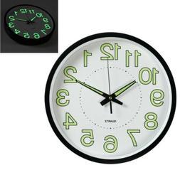 12'' Modern Luminous Large Quartz Wall Clock Glow In The Dar
