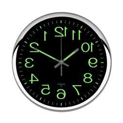 12 modern non ticking large wall clock