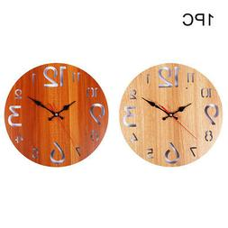 12inch Battery Operated Arabic Numerals Wall Clock Rustic Wo