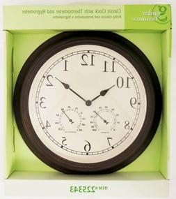 13 Inch Clock With Thermometer And Hygrometer For Indoor Or
