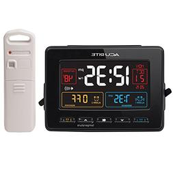AcuRite 13022 Atomic Dual Alarm Clock with USB Charging and