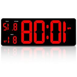 14.5 Inches Extra Large LED Digital Clock with Date Indoor T