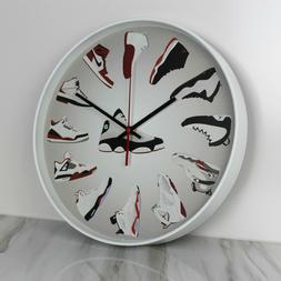 """14"""" Large Luxury Quartz Wall Clock Nike Air Jordan Sneaker H"""
