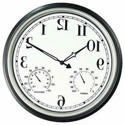 SecreShow 16 Inch Large Indoor Outdoor Wall Clock,Waterproof