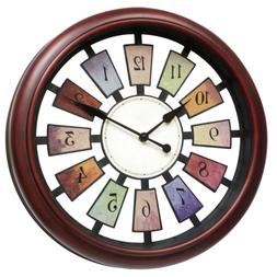 May Gifts 16 Inch Unique Decorative Wall Clock for Living Ro