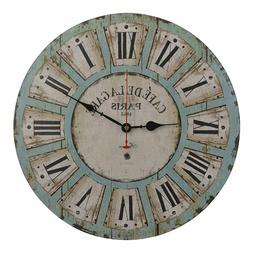 16 Inch Vintage Large Decorative Wall Clock Silent Non Ticki