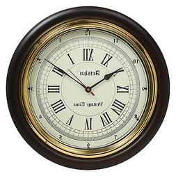 Artshai 16 inch vintage time wall clock made from wood and b