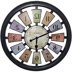 Westclox Quartz Wall Clock 18 Multicolored Quartz Movement G