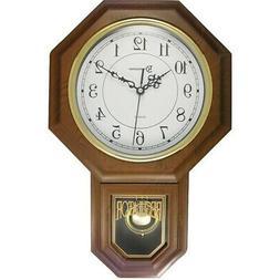 """TIMEKEEPER 180WAGM Timekeeper Essex 17"""" Modern Pendulum Wall"""
