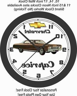 1971 CHEVROLET CAPRICE WALL CLOCK-IMPALA,TORINO, GRAND PRIX,