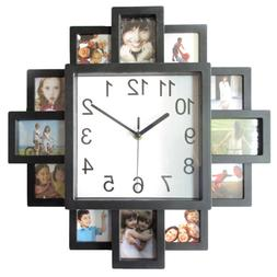 1PC 16 Inch Clock Plastic Picture Frame Wall Clock for Bedro