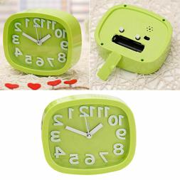 1pc Alarm Clock Bedside Mute Alarm Clock without Battery for