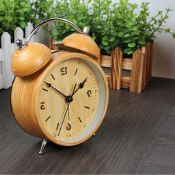 1pc Alarm Clock Metal Battery Powered Luminous Cute Clock Be