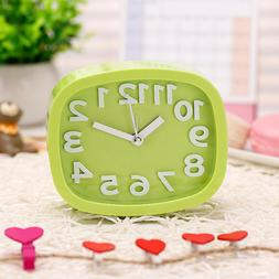 1pc Alarm Clock Plastic Desk Alarm Clock without Battery for