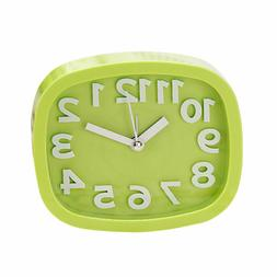 1pc Alarm Clock Plastic Mute Alarm Clock without Battery for