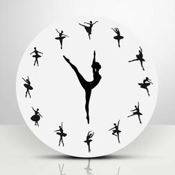 1PC Black and White Durable Ballerina Wall Clock for Living