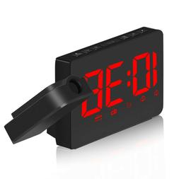 1PC Clock Projection USB Charge Night Light Clock for Home B